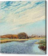 The Susaa River At Naestved, Denmark Canvas Print