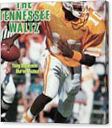 The Tennessee Waltz Tony Robinson Buries Auburn Sports Illustrated Cover Canvas Print