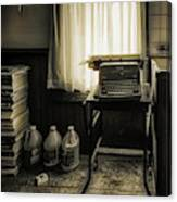 The Typewriter Canvas Print