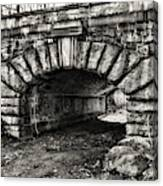 The Underpass Black And White Canvas Print