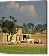 The Village Of Punjab Canvas Print
