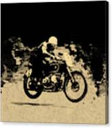 The Vintage Motorcycle Racer Canvas Print