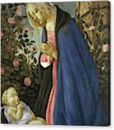 The Virgin Adoring The Sleeping Christ Child Canvas Print