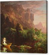 The Voyage Of Life Childhood, 1842 Canvas Print