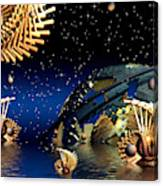 The Wickers-... Out For A  Midnight Swim... Canvas Print