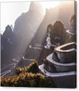 The Winding Road Of Tianmen Mountain Canvas Print