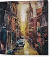 The Yellow Street Canvas Print