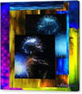 These Colors I Hear When Nancy Wilson Sings Turned To Blue  Canvas Print