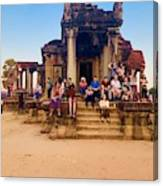 They Come To See Angkor Wat, Siem Reap, Cambodia Canvas Print