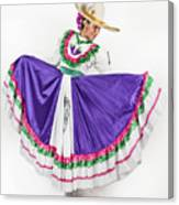 This Charming Dancer Is Wearing A Canvas Print