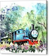 Thomas The Tank Engine In Buckfastleigh Canvas Print