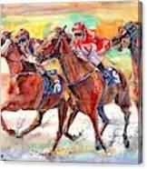 Thoroughbred Racing Canvas Print