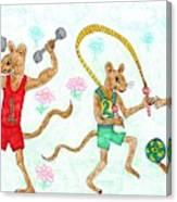 Three Fit Mice 1 Canvas Print