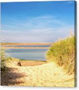 Through The Dunes Over To Budle Bay Canvas Print