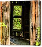 Through The Old Blacksmith Shop Canvas Print