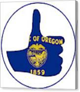 Thumbs Up Oregon Canvas Print