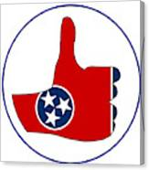 Thumbs Up Tennessee Canvas Print