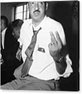 Thurgood Marshall At Naacp Meeting Canvas Print