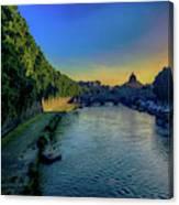 Tiber Evening Canvas Print