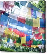 Tibetan Buddhist Prayer Flags Canvas Print