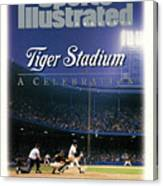 Tiger Stadium A Celebration Sports Illustrated Cover Canvas Print