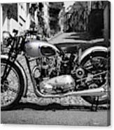 Tiger T100 Vintage Motorcycle Canvas Print