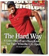 Tiger Woods, 2008 Us Open Sports Illustrated Cover Canvas Print