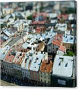Tilt Shift  Lviv Town Roof In Ukraine Canvas Print