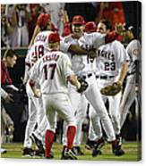 Tim Salmon, Darin Erstad And Alex Ochoa Canvas Print