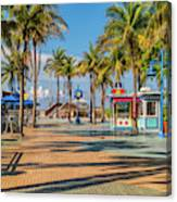 Times Square In Fort Myers Beach Florida Canvas Print