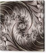 Titanium Double Fractal Spiral Canvas Print