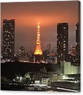 Tokyo Tower With Cloud Canvas Print