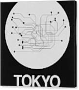 Tokyo White Subway Map Digital Art By Naxart Studio