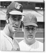Tom Seaver And Jim Palmer At Baseball Canvas Print