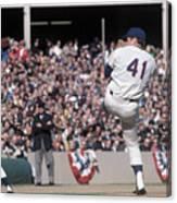 Tom Seaver Pitching During Baseball Game Canvas Print