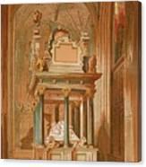 Tomb Of Queen Elizabeth. - Westminster Canvas Print