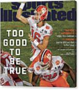 Too Good To Be True Trevor Lawrence Killed It As A Sports Illustrated Cover Canvas Print