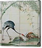 Top Quality Art - Cranes Pines And Bamboo Canvas Print