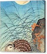 Top Quality Art - Moon And  Quail Canvas Print