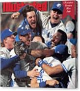 Toronto Blue Jays Joe Carter, 1992 World Series Sports Illustrated Cover Canvas Print