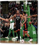 Toronto Raptors V Boston Celtics Canvas Print