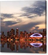 Toronto Skyline At Sunset, Ontario Canvas Print
