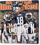 Tostitos Bcs National Championship Game - Oregon V Auburn Sports Illustrated Cover Canvas Print