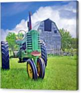 Tractor - On The Farm Canvas Print