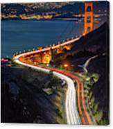 Traffic Racing Over The Golden Gate Bridge Canvas Print