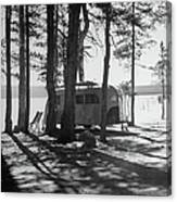 Trailer Park In Yellowstone National Canvas Print
