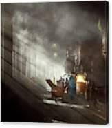 Train - Repair - Smoking Section 1942 Canvas Print