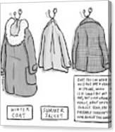 Trans-seasonal Coat Canvas Print