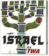 Trans World Airlines - Israel - Vintage Travel Poster Canvas Print