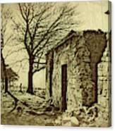 Tree And Ruins Canvas Print